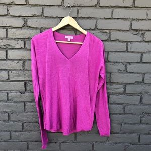 Lilly Pulitzer Fuchsia V-neck Sweater sz S